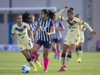 América deja ir ventaja de dos  goles ante Rayadas en Coapa