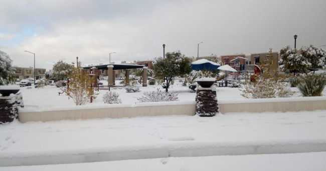 ¡Fuertes nevadas!