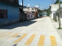 Mantiene SOTOP programa de  pavimentación en Tenosique