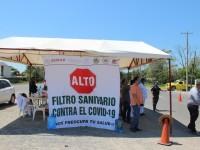 Se implementan filtros sanitarios en las carreteras para contención del Covid-19