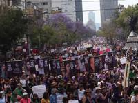 Más de 80 mil mujeres  asisten a la marcha #8M