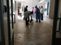 Sanitizan hospital en Jalpa de Méndez