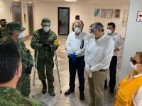 Dan de alta a Adán López y supervisa hospital COVID