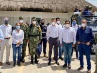 Viaja Murat a Huatulco para evaluar estragos del sismo
