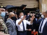Llegó Macron a Beirut