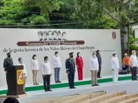 """Recuerdan a los """"Niños Héroes de Chapultepec"""""""