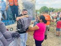 Continúa llegando la ayuda  humanitaria a damnificados