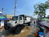 Continúan entregando ayuda a los habitantes de Gaviotas Sur