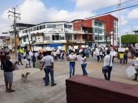 Protestan damnificados contra alcaldesa Nidia Naranjo Cobián