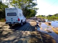 Está en pedazos  la carretera de Jonuta-Zapatero