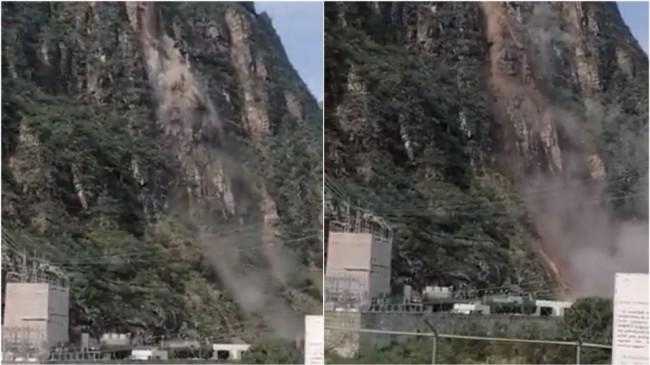 Desgaja cerro en presa de Zimapán, Hidalgo