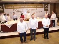 Toma Merino Campos protesta al nuevo comité del CCET